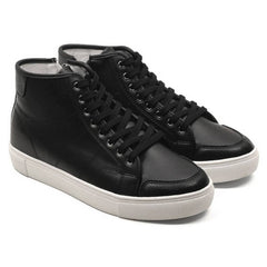 EpicStep Men's Casual Zip Lace up Round Toe Mid High Top Sneakers Shoes