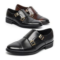 EpicStep Men's Genuine Leather Polish Wingtip Shoes Dress Formal Business Casual Lace up Oxfords Loafers