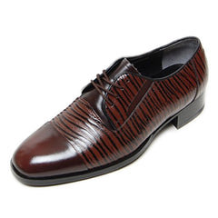 EpicStep Men's Dress Formal Business Genuine Leather Stripped Stylish Slip On Loafers Oxfords Shoes