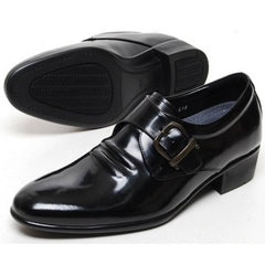 EpicStep Men's Genuine Leather Dress Formal Business Casual Tall Up Buckle Shoes Oxfords Loafers