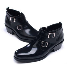 012c701588fe EpicStep Men's Dress Formal Casual Shoes Genuine Leather Zip Ankle Boots