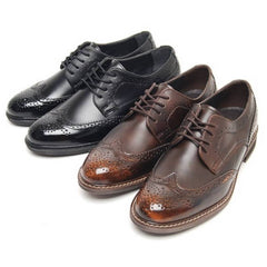 EpicStep Men's Classic Dress Formal Business Casual Leather Wingtip Lace up Shoes Loafers Oxfords