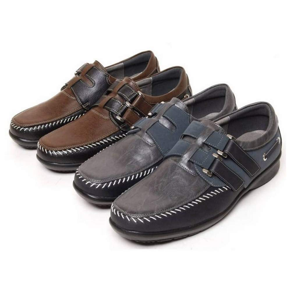 EpicStep Men's Casual Leather Driving Shoes Fashion Sneakers Oxfords Loafers