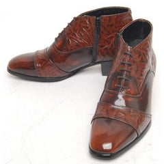 EpicStep Men's Genuine Leather Dress Formal Business Casual Lace Up Shoes Ankle Boots Oxfords