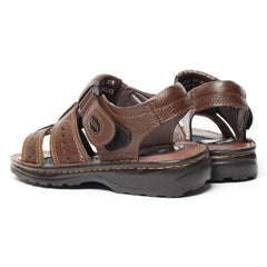 EpicStep Men's Comfort Cushioned Leather Closed Toe Strappy Fisherman Sandals Shoes
