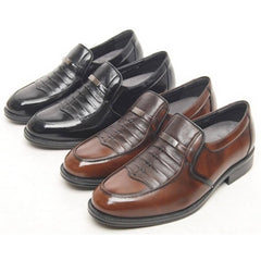 EpicStep Men's Genuine Leather Dress Formal Business Casual Shoes Oxfords Slip On Loafers