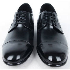 EpicStep Men's Simple Dress Formal Business Genuine Leather Lace Up Tall Up Elevator Oxfords Shoes