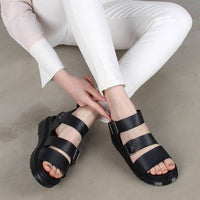 New Women Strappy Cushioned Mid Heel Slinkback Open Toe Gladiator Sandals Shoes
