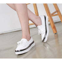 New Women's Casual Comfy Stitched Slip On Tassel Loafers Fashion Sneakers Shoes