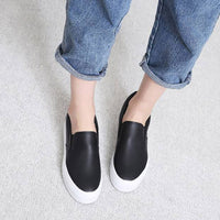New Women Casual Leather Hidden Wedges Slip On Platform Fashion Sneakers Shoes