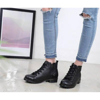 New Women Casual Platform Lady Pumps Zip Lace Up Ankle Chukka Boots