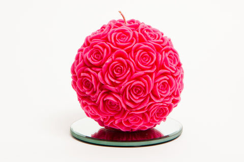 Small Rose Ball Candle