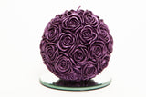 Large Rose Ball Candle