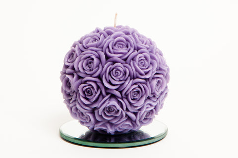 Medium Rose Ball Candle