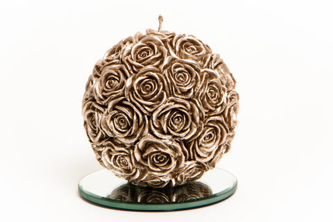 Antique Rose Ball Candle