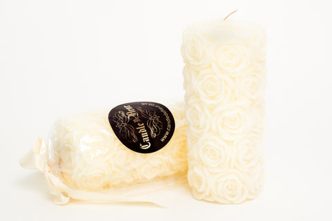 Small Rose Pillar Candle