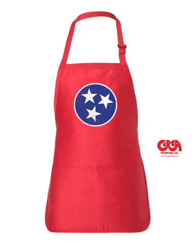 Tennessee flag tri-star full length pocket apron