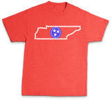 Bike Tennessee state outline with bike chain