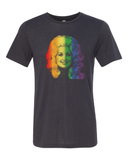 Dolly Pride Rainbow in t-shirt and tank top