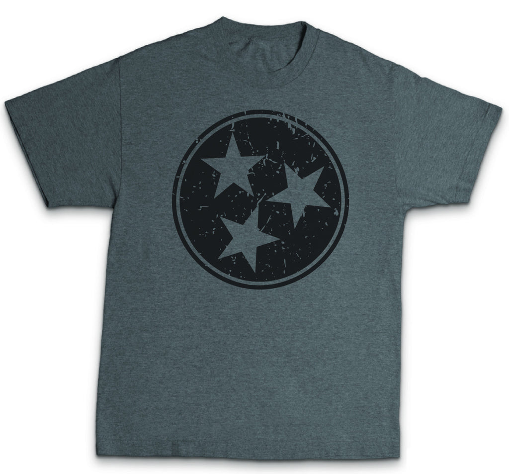 Tennesse Tri-star, black on gray t shirt