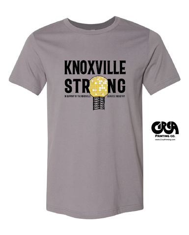 Knoxville Strong Service Industry support t shirt
