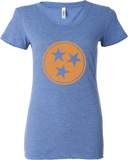 Ladies Tri star TN flag t-shirt :: 3 color options