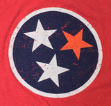 Tennessee State Flag with VOL star T-shirt