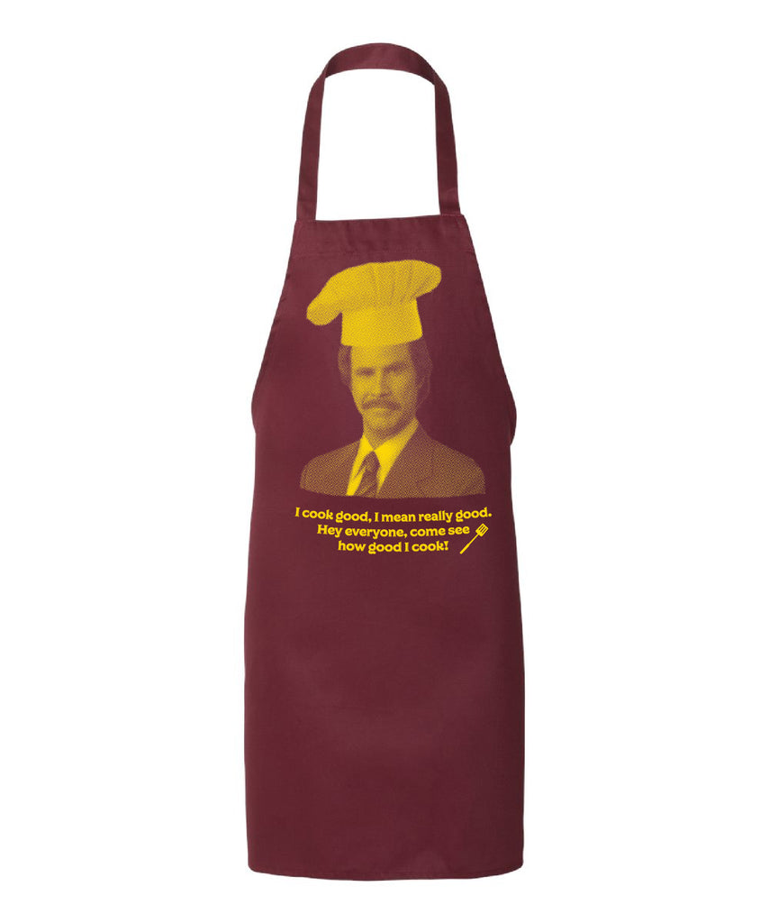 Ron Burgundy Anchorman grilling apron