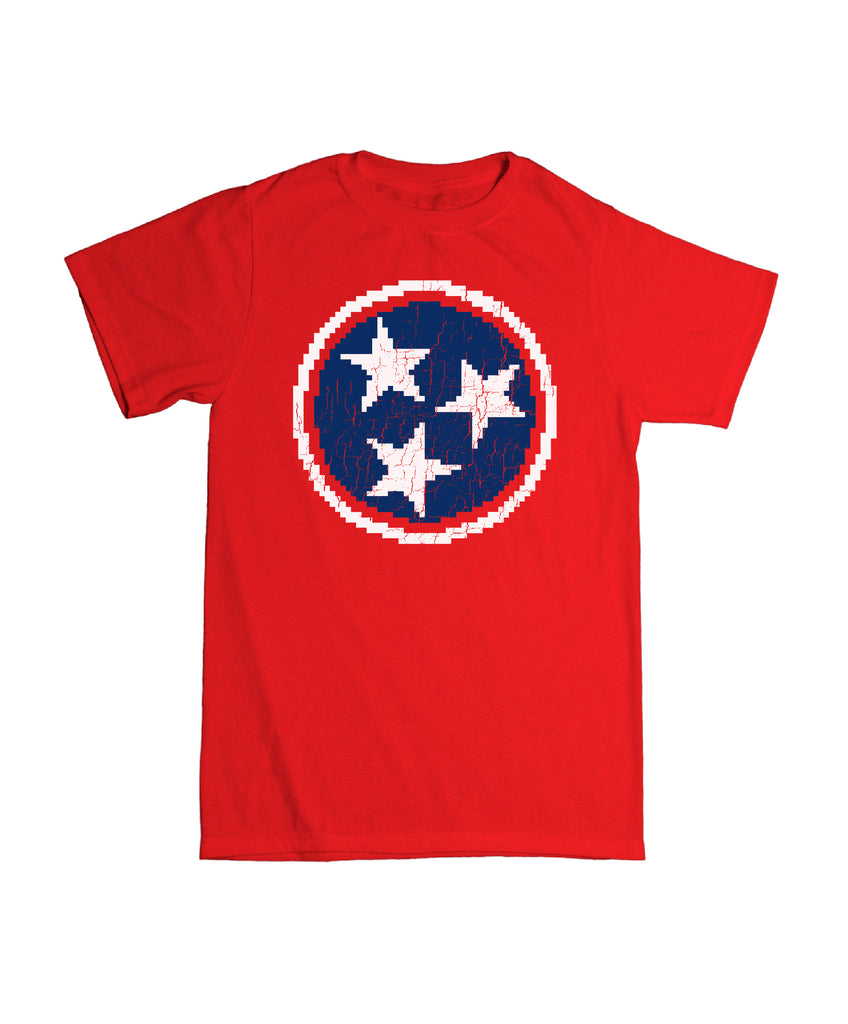 8 bit Tri star Tennessee Flag red