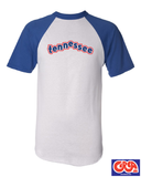 Tennessee raglan t shirt Red or Blue
