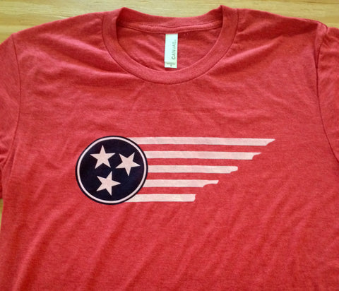 Tennessee state and Tri star design, flag style