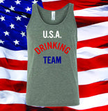 U.S.A. Drinking Team t-shirt and tank top