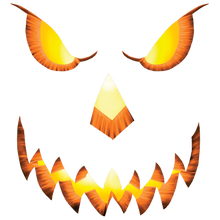 Load image into Gallery viewer, Pumpkin Head Heat Transfers