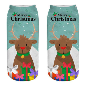 Wholesale Christmas Unisex 3D Printed Socks 6 Pack - Mix Styles