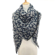Load image into Gallery viewer, Wholesale Women's Cashmere Leopard Triangle Scarf Shawl - All Colors