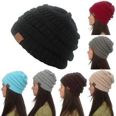 Wholesale CC Fashion Men Ponytail Beanie Winter Warm Hats