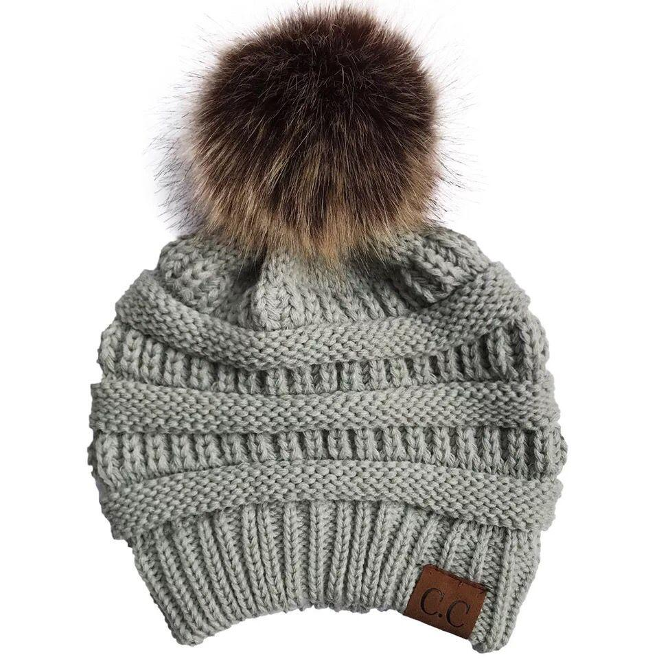 e8c82a217f3095 ... Load image into Gallery viewer, Wholesale CC Women Knitted Hat Winter  Warm Comfortable Woolen Cap ...