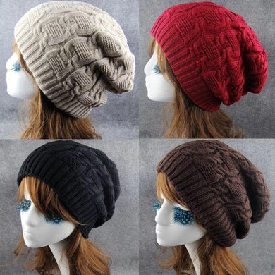 Wholesale Winter Wool Knitted Baggy Cap
