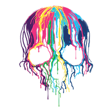 Load image into Gallery viewer, Melting Skull Heat Transfers