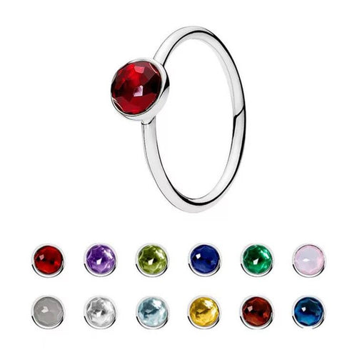 Wholesale Pandora Ring Birthstone - Mix Colors