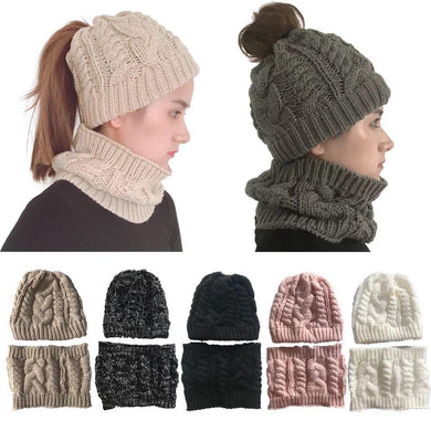 Wholesale Winter Beanie Hat with Neck Warmer – Unisex 2018 design