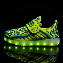 Load image into Gallery viewer, New Kids Yeezy Led Shoes - Green