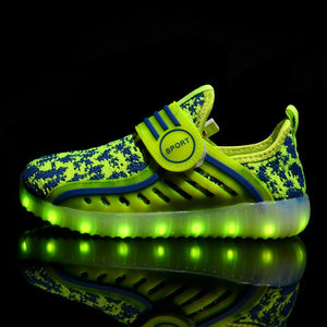 New Kids Yeezy Led Shoes - Green