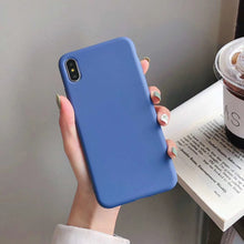 Load image into Gallery viewer, Bestseller Solid Candy Color TPU Rubber Shockproof Protective Phone Case for All IPhone Models