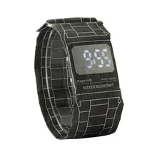 Load image into Gallery viewer, Wholesale Digital LED Magnetic Wrist Waterproof Paper Watch Newspapr Paprwatch