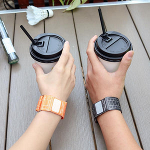 Wholesale Digital LED Magnetic Wrist Waterproof Paper Watch Newspapr Paprwatch