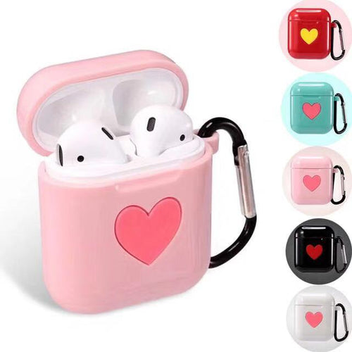 Wholesale Airpod Heart Printed Silicone Case