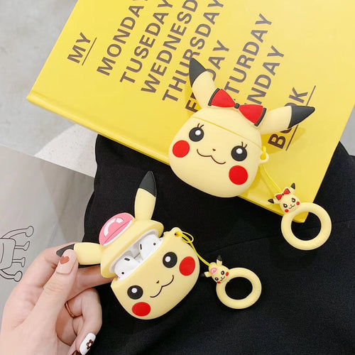 Wholesale Airpod Cover Cute Girl Boy Pokemon Shape Case