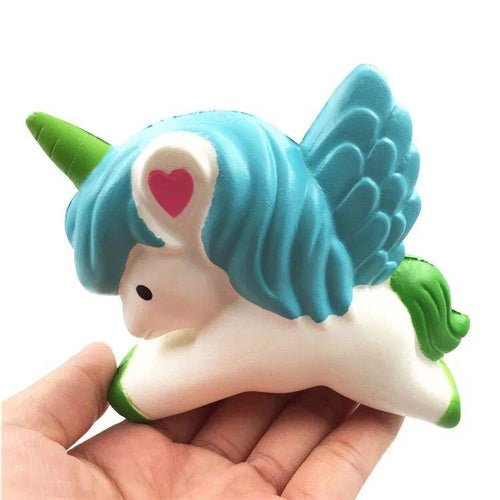 Wholesale Green Unicorn Stress Reliever, Slow Rise Green Unicorn Squishy