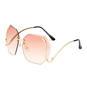 Womens Wholesale Big Trendy Hipster Plastic Aviator Sunglasses - Mix Colors